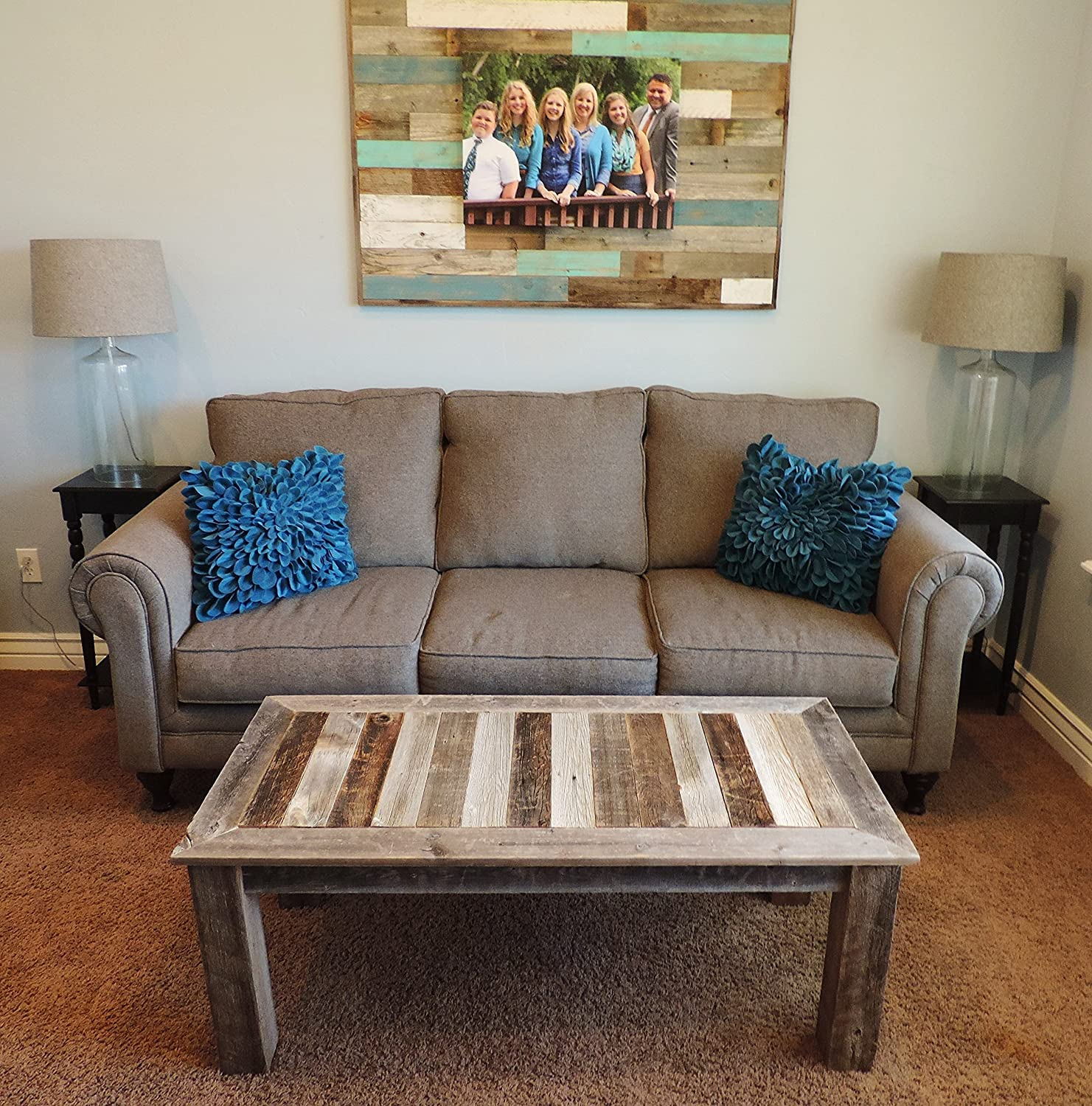 "Amazon 24"" X 48"" X 18"" ""Bretton"" style Reclaimed Wood Rustic"