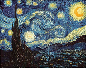 Diy Paint By Numbers Kit For Adults Van Gogh The Starry Night Replica Diy Paint By Numbers Landscape Scene Paintings Arts Craft For Home Wall