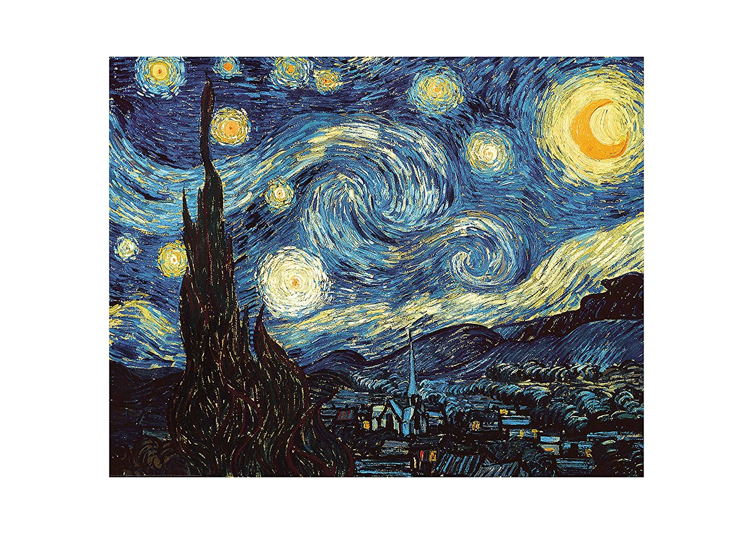 DIY Paint by Numbers Kit for Adults - Van Gogh The Starry Night Replica | DIY Paint by Numbers Landscape Scene Paintings Arts Craft for Home Wall Decor | Canvas, Brushes, Acrylic Paints Included Alto Crafto