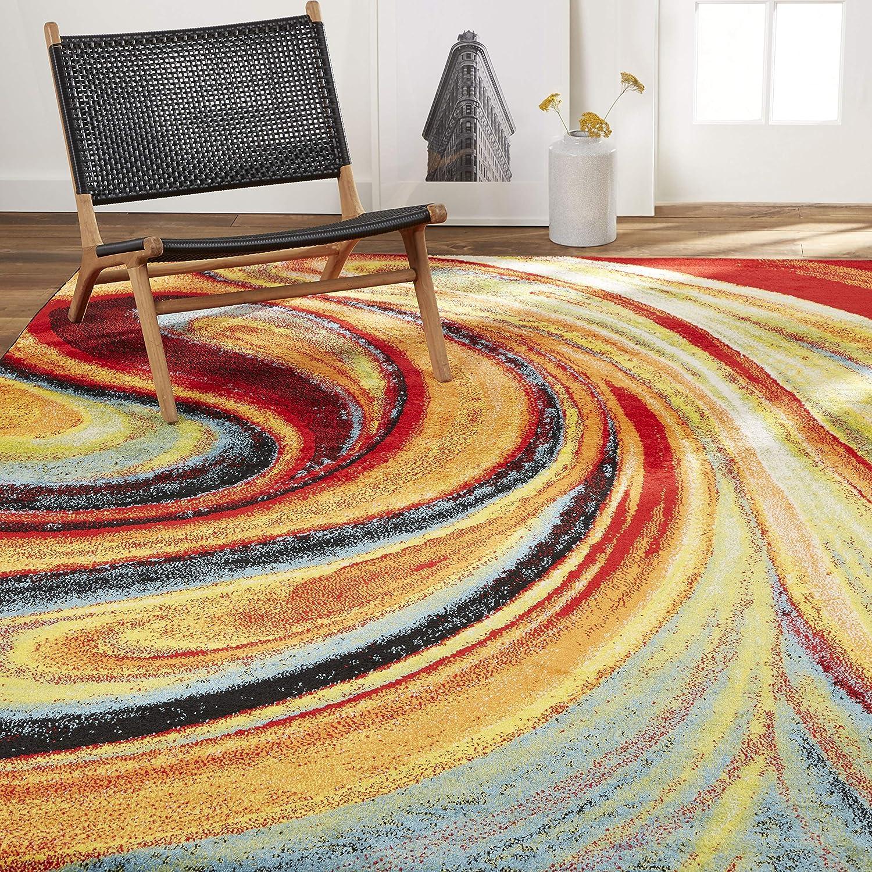 Home Dynamix Adja Modern Area Rug Splash 3 3 X 4 3 Furniture Decor