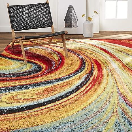 Amazon Com Home Dynamix Adja Modern Area Rug Splash 7 10 X 10 2 Furniture Decor