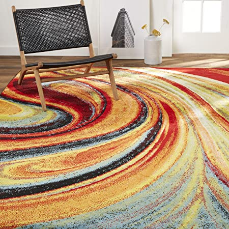 Amazon Com Home Dynamix Adja Modern Area Rug Splash 9 2 X 12 5 Furniture Decor