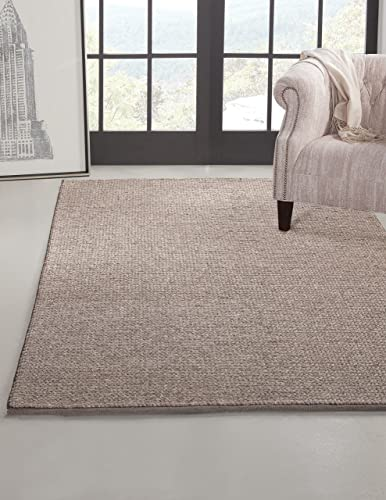 SI Area Rugs Pixley Hand Made Area Rug, 8 by 10-Feet, Grey