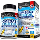 Omega 3 Fish Oil 3000mg Burpless. EPA 1200mg + DHA 900mg Fatty Acids. Highest Concentration Available. Best Non-GMO Pharmaceutical Grade Pills. Joint Support, Immune, Heart Health, Brain, Eyes, Skin