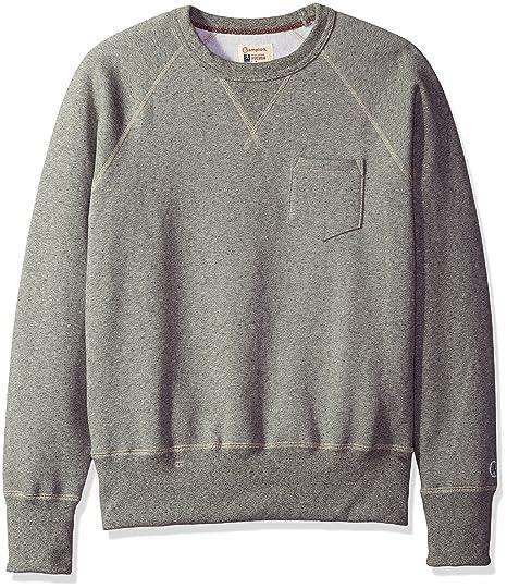 d14ac9fc97bf Todd Snyder + Champion Men's Pocket Sweatshirt, Antique Grey Mix, Small