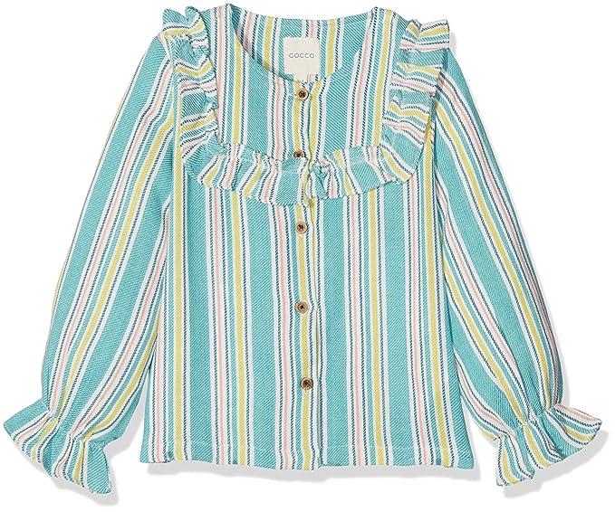 Gocco W73CBLCA102AP Abrigo, Niñas, Azul (Azul Verdoso), 110(Tamaño del