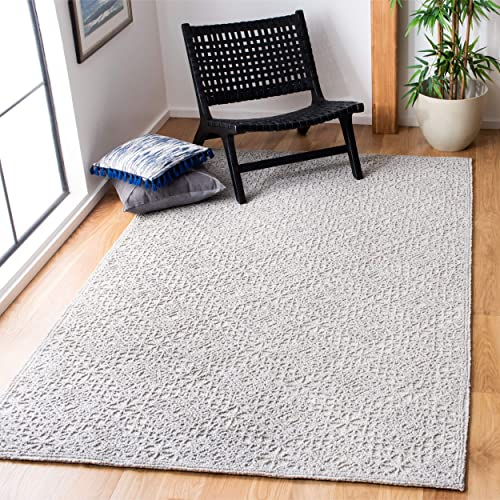 Safavieh Trace Collection Grey Premium Wool Area Rug, 4 x 6 ,