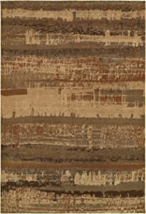 Rizzy Home Bellevue Collection Polypropylene Area Rug, Tan/Gray Graphic