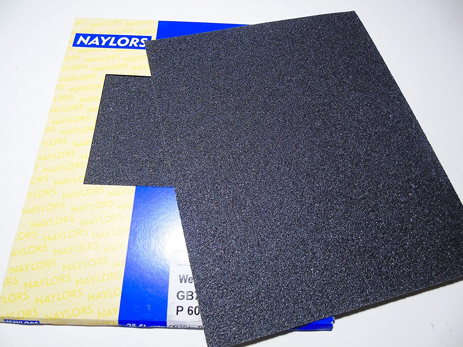 10 x Wet and dry Sandpaper Sheets waterproof Abrasive Coarse Grit 60 Quality Silicon Carbide Naylors