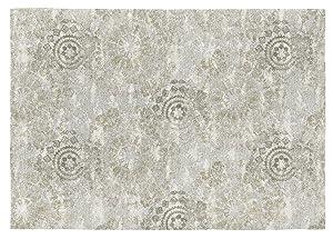 Rugs&Rugs Toluca Alfombra Decorativa De Algodón En Estampación Digital, Beige, 160 X 230 Cm
