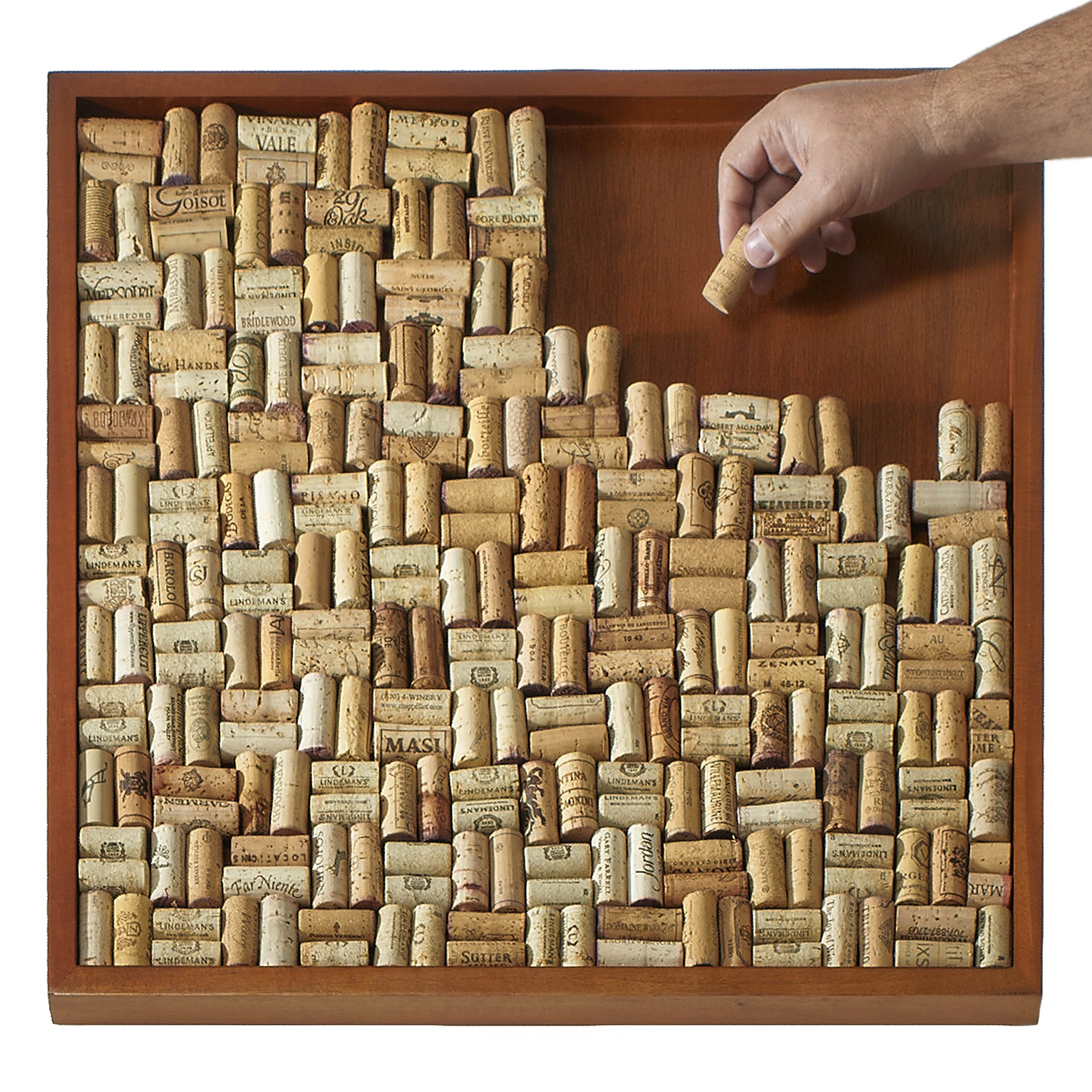 Wine Enthusiast Diy Wine Cork Board Frame Kit 696535182474 Ebay