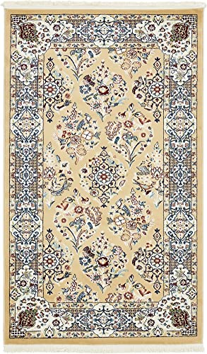 Unique Loom Narenj Collection Classic Traditional Repeating Pattern Beige Area Rug 3 0 x 5 0