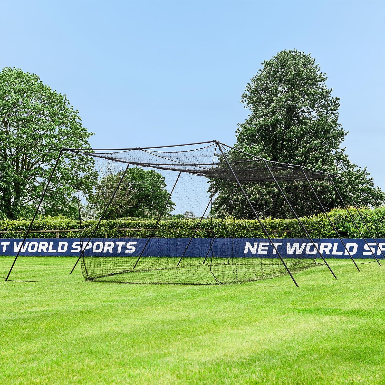 amazon com fortress trapezoid baseball batting cage complete