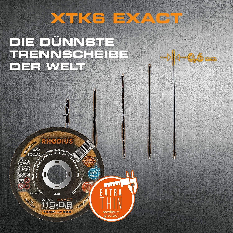 10 Stück Ø 115 mm|Multi Box RHODIUS extra dünne Trennscheibe Metall