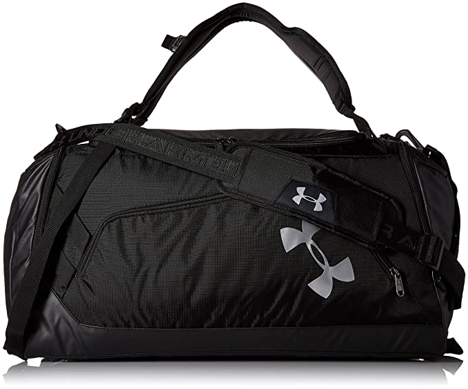 939f54a76 Amazon.com : Under Armour Storm Contain Backpack Duffle 3.0, Black /Silver,  One Size : Clothing