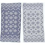 Bersuse 100% Cotton Teotihuacan Dua Dual-Layer Handloom Turkish Towel-37X70 Inches, Dark Blue