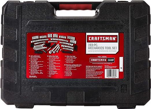 CRAFTSMAN Kit de herramientas mecánicas de 1/4 pulgadas, 193 piezas (939484): Amazon.es: Bricolaje y herramientas