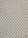 "7MM Polyester Hex Mesh Fabric White 50"" Wide"