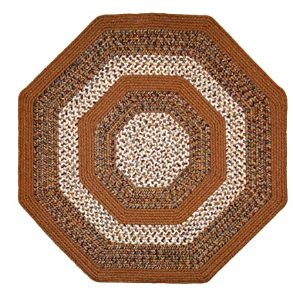 Amazon Com Thorndike Mills Octagon Braided Rug 8 Feet By 8 Feet