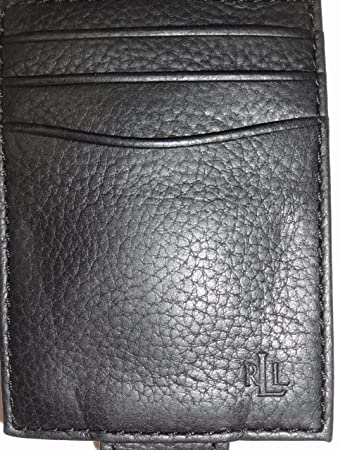 52144fc64fb7 Ralph Lauren Men s Multi Credit Card Case Wallet with Magnetic Money Clip  Black