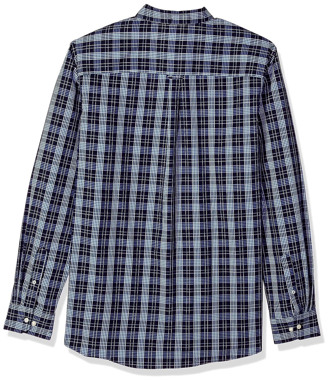 IZOD Mens Slim Fit Button Down Long Sleeve Stretch Performance Plaid Shirt
