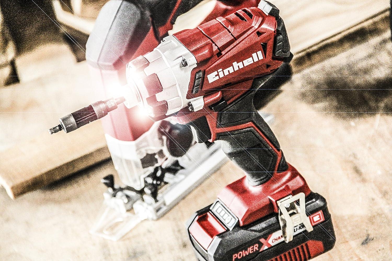 Lithium-Batterie Einhell TE-CI 18 Schlagschrauber 140 Nm x-change 3 LEDs 4257232 250V