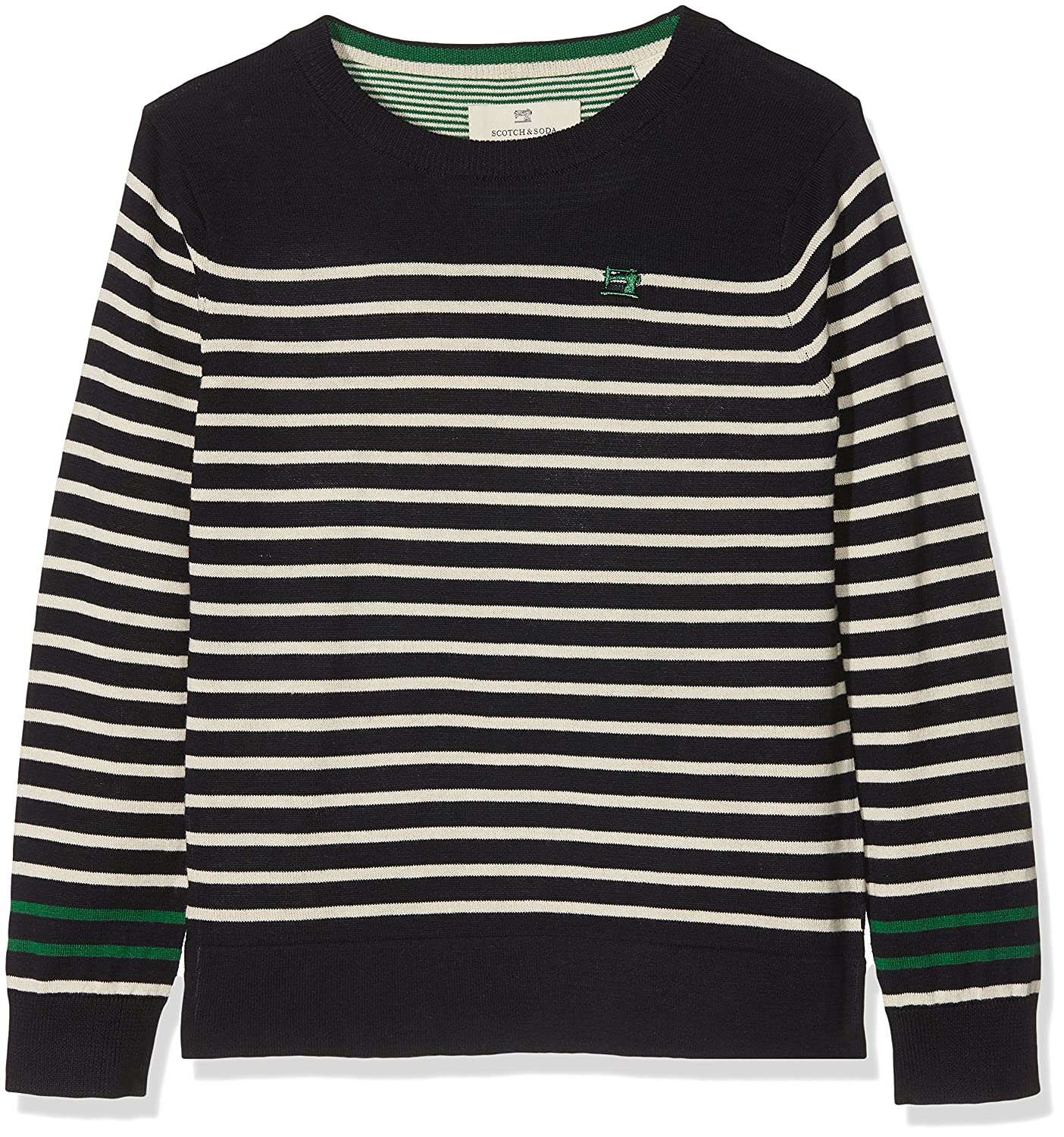 Scotch /& Soda Boys Crew Neck Pull with Sewing Machine Embroidery Jumper