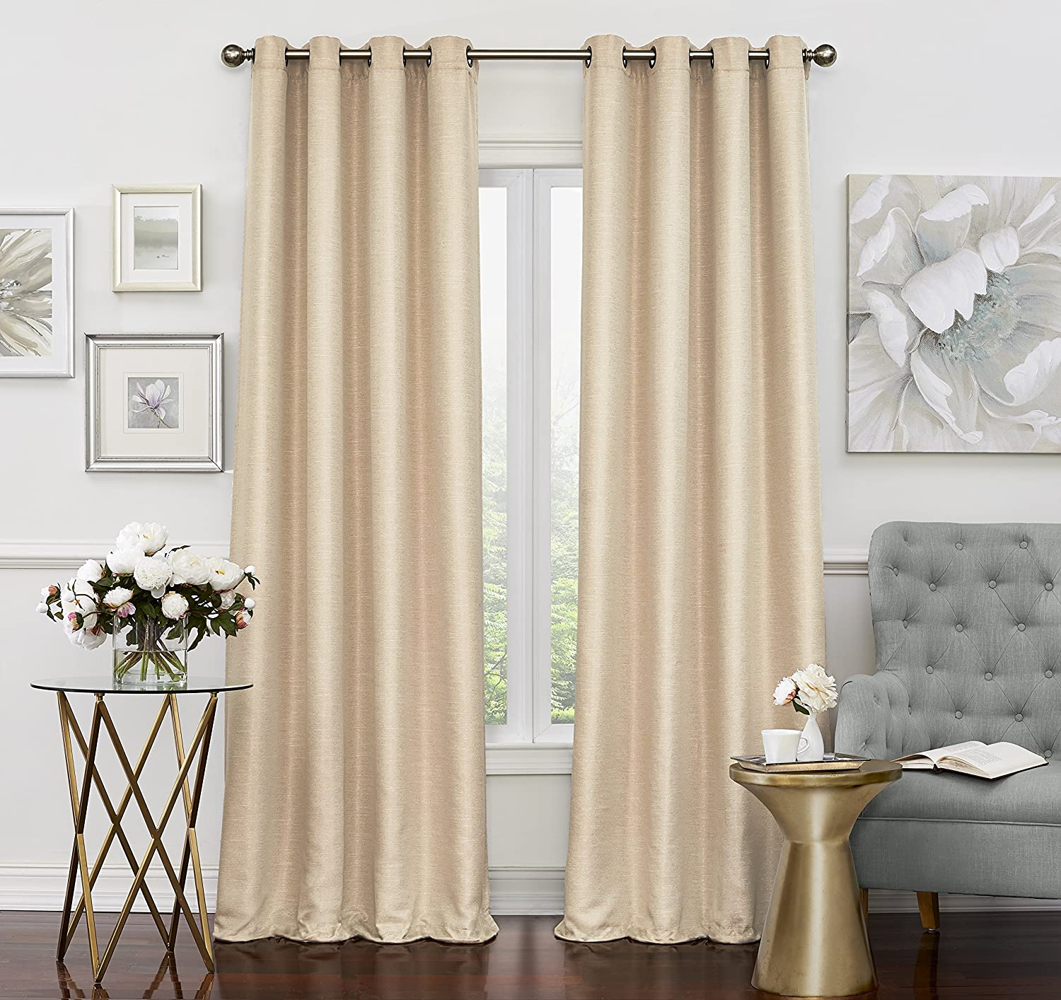 Eclipse Luxor Thermal Layer Blackout Window Panel 52x84 Champagne Ellery Homestyles 14703052084CHM