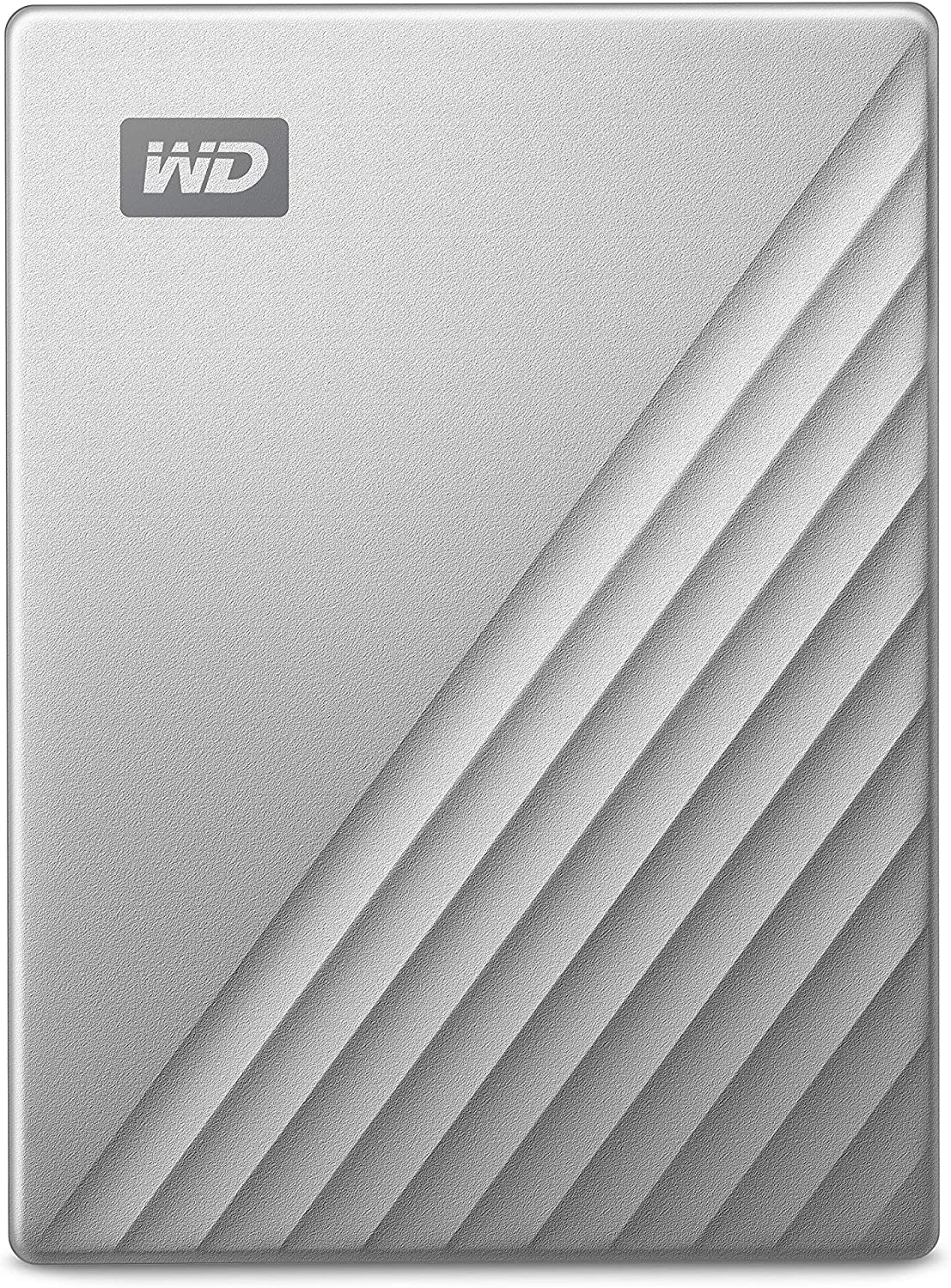 WD 5TB My Passport Ultra for Mac Silver Portable External Hard Drive, USB-C - WDBPMV0050BSL-WESN