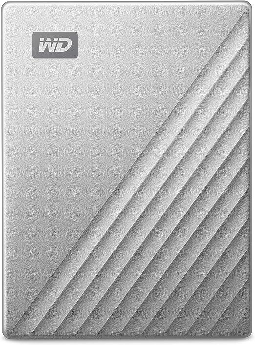 WD 5TB My Passport Ultra for Mac Silver Portable External Hard Drive