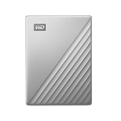 WD 2TB My Passport Ultra for Mac Silver Portable External Hard Drive, USB-C  - WDBKYJ0020BSL-WESN