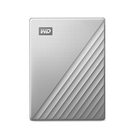 WD 4TB My Passport Ultra for Mac Silver Portable External Hard Drive, USB-C  - WDBPMV0040BSL-WESN
