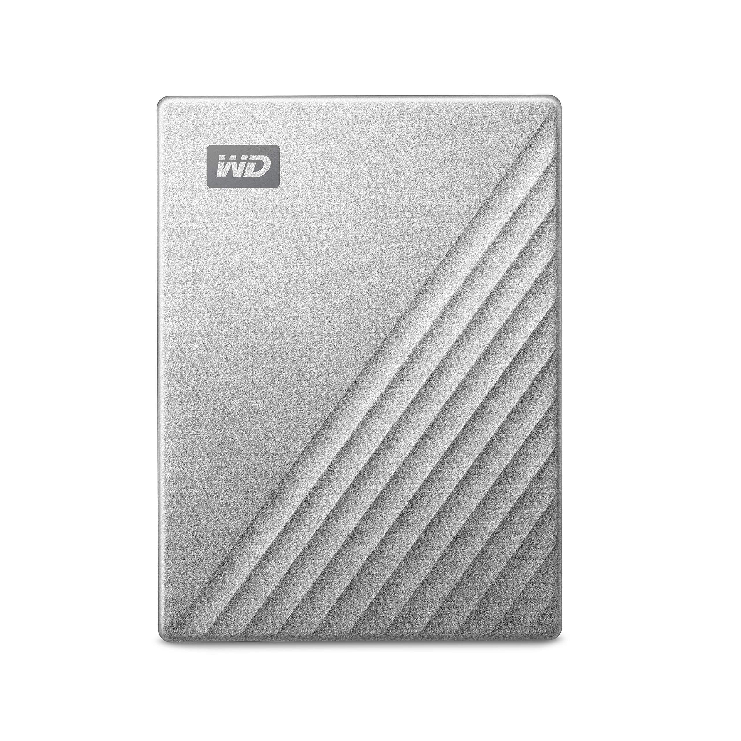 WD4TB MyPassportUltrafor Mac Silver Portable External Hard Drive, USB-C - WDBPMV0040BSL-WESN