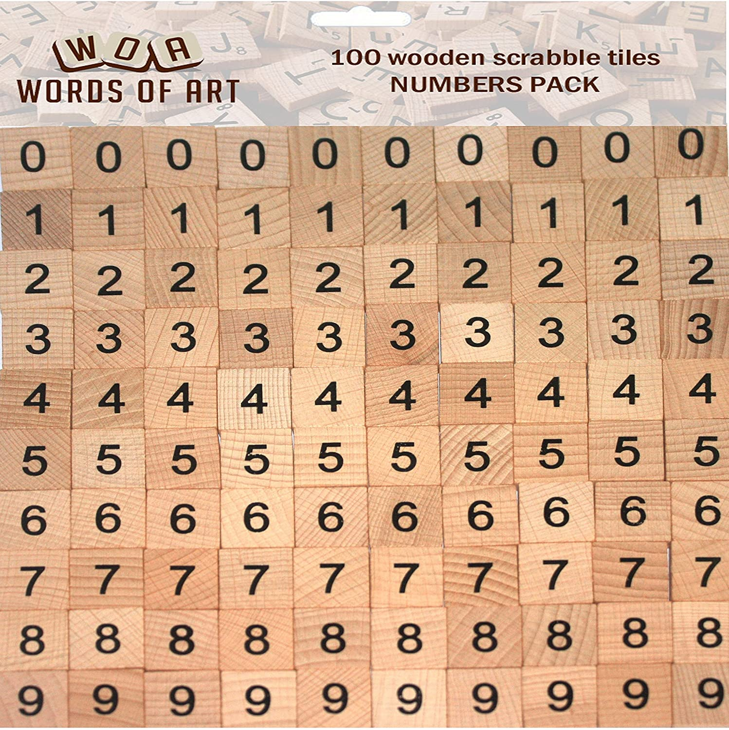 Wooden Scrabble Tiles Individual Letters Numbers Crafts Alphabet Game UK Seller