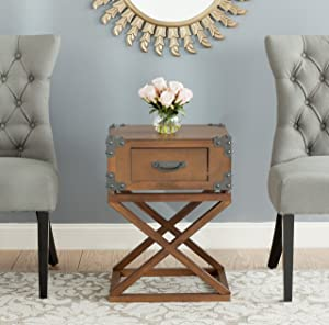 Safavieh American Homes Collection Dunstan Accent Table, Autumn Leaf