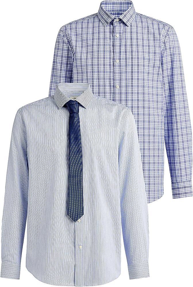 next Hombre Pack De Dos Camisas De Cuadros Y Rayas con Corbata De ...