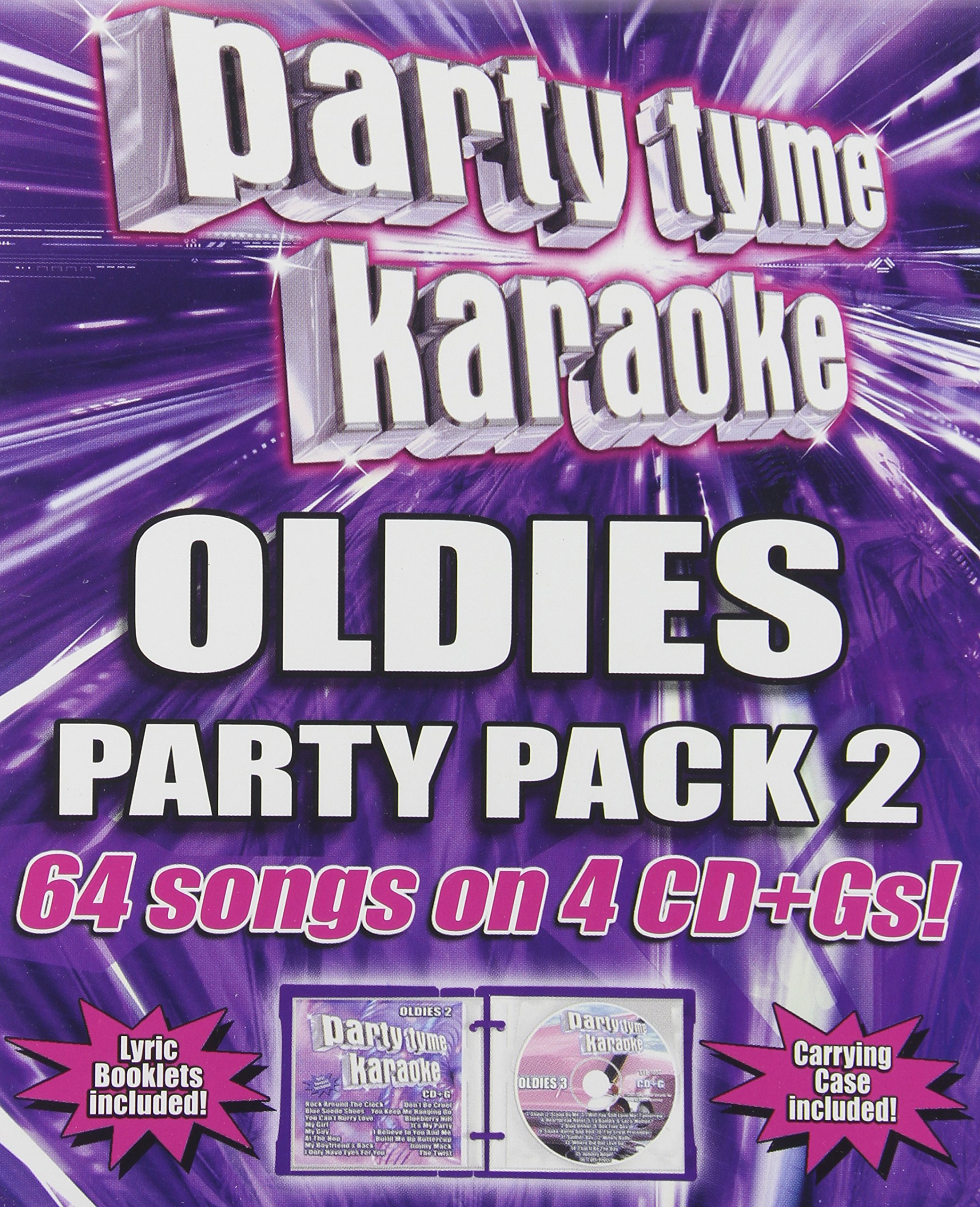 Party Tyme Karaoke - Oldies Party Pack 2 (64-song Party Pack) [4 CD] by SYBERSOUND