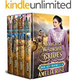 Montana Westward Brides Box Set: Books 1-4: Mail Order Bride Historical Western Romance