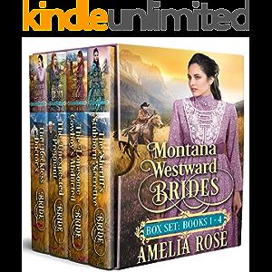 Montana Westward Brides: Books 1-4: Mail Order Bride Historical Western Romance