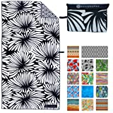 ECCOSOPHY Microfiber Beach Towel - Quick Dry Pool Towels 71x35 inches Oversized Travel Towel - Lightweight Compact Beach Acce