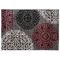 Contemporary Modern Floral Indoor Soft Area Rug