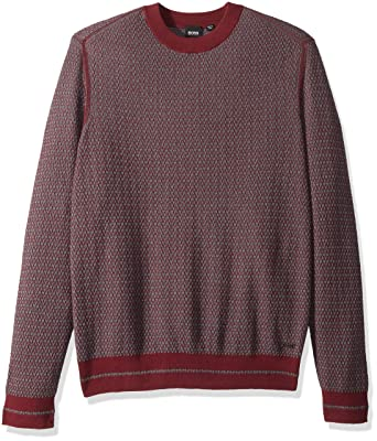 2850a00e7 Hugo Boss Men's Kanadrin Cotton Wool Blend 2-Color Sweater: Amazon.in:  Clothing & Accessories