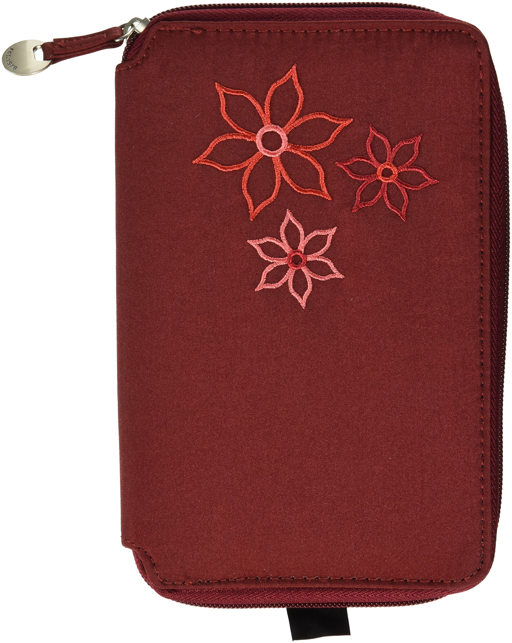 Travelon RFID Blocking Bouquet Family Passport Case, Wine