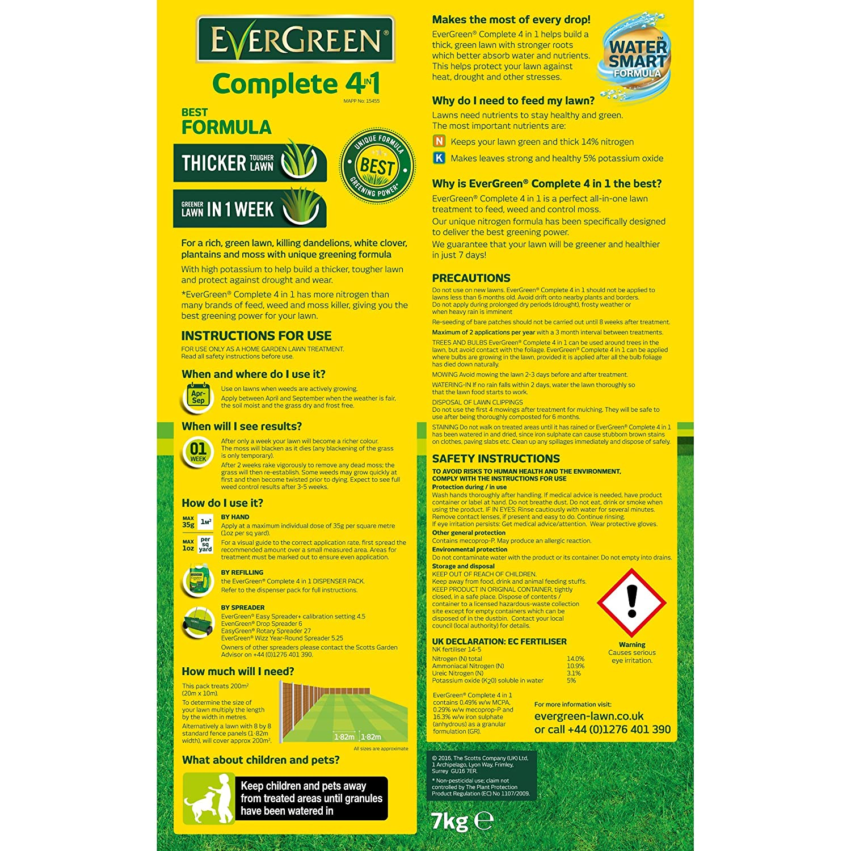 Evergreen 200sqm Complete 4 In 1 Lawn Care Amazon Garden