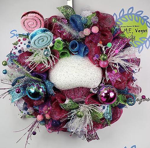 lighted whimsical candy christmas wreath cupcake christmas wreath candy holiday wreath whimsical christmas
