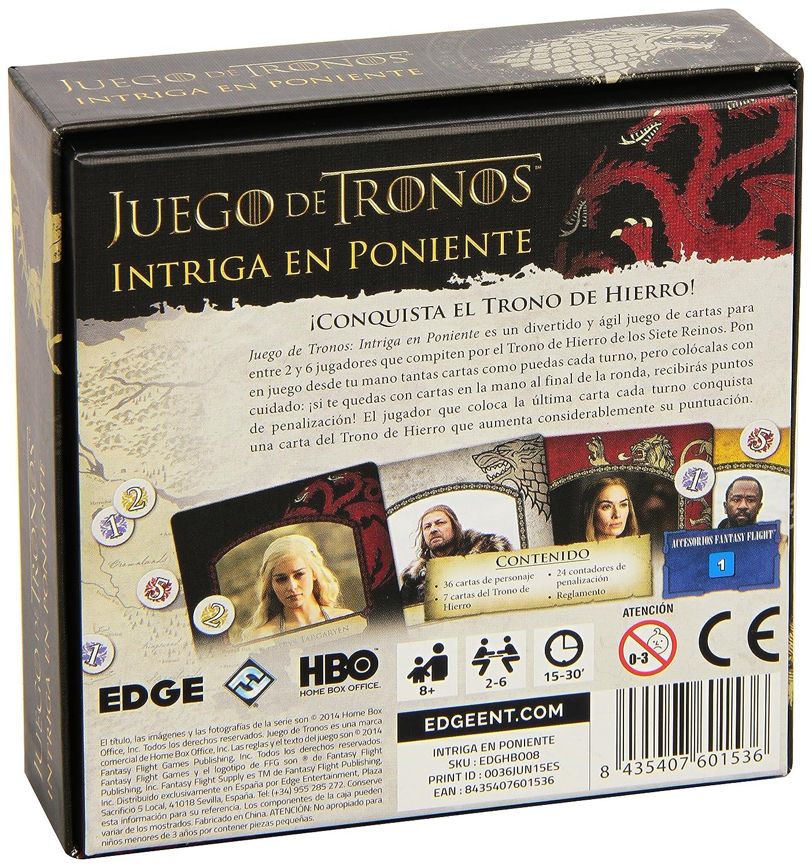Fantasy Flight Games Juego de Tronos - Intriga en Poniente (Edge Entertainment FFHBO08)