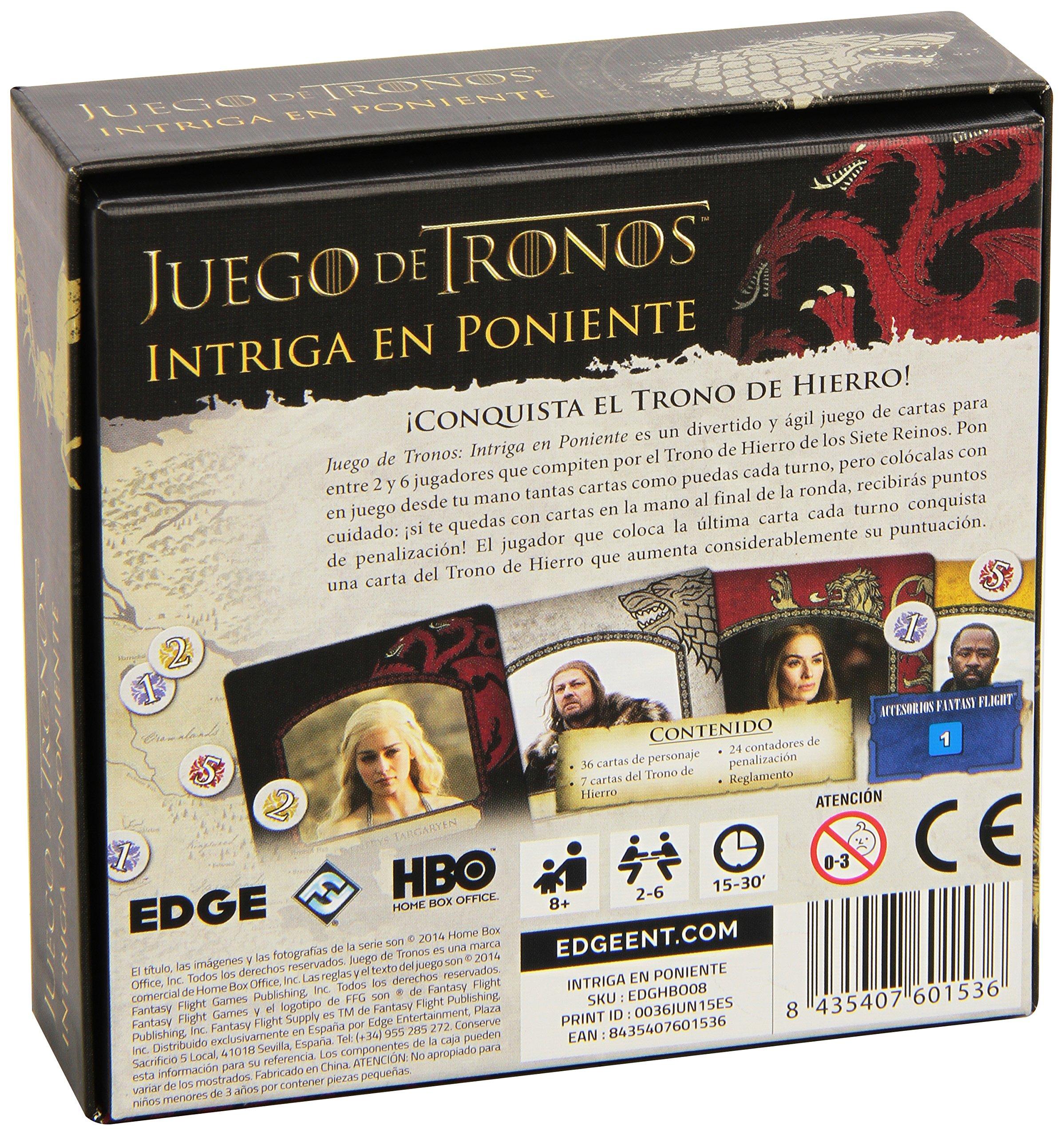 Comprar Fantasy Flight Games Juego de Tronos - Intriga en Poniente (Edge Entertainment FFHBO08)
