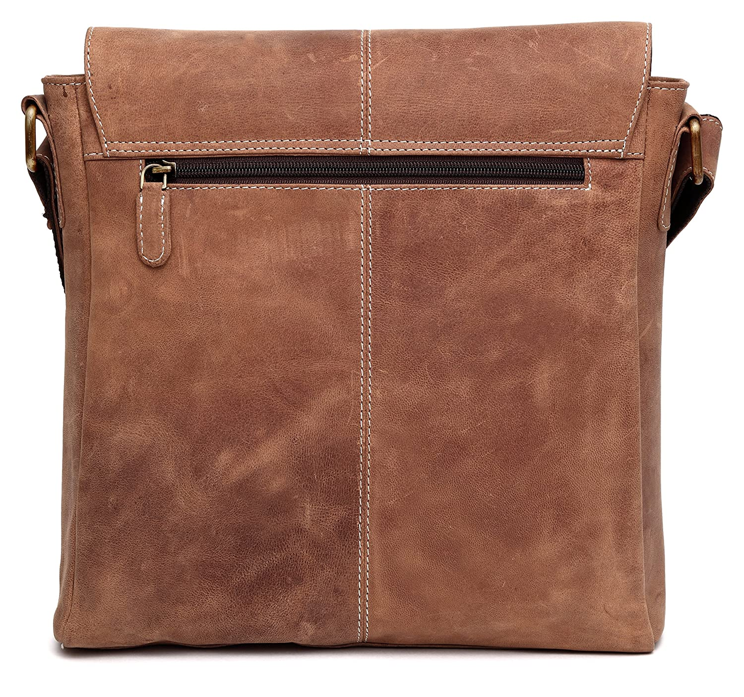 WildHorn Leather 25.4 cms Brown Messenger Bag (MB260)  Amazon.in  Bags d8923921903ac