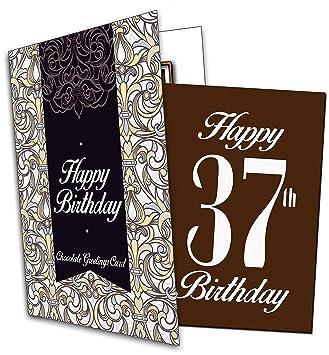 Geburtstag QuotHappy 37th Birthdayquot Chocolate Card