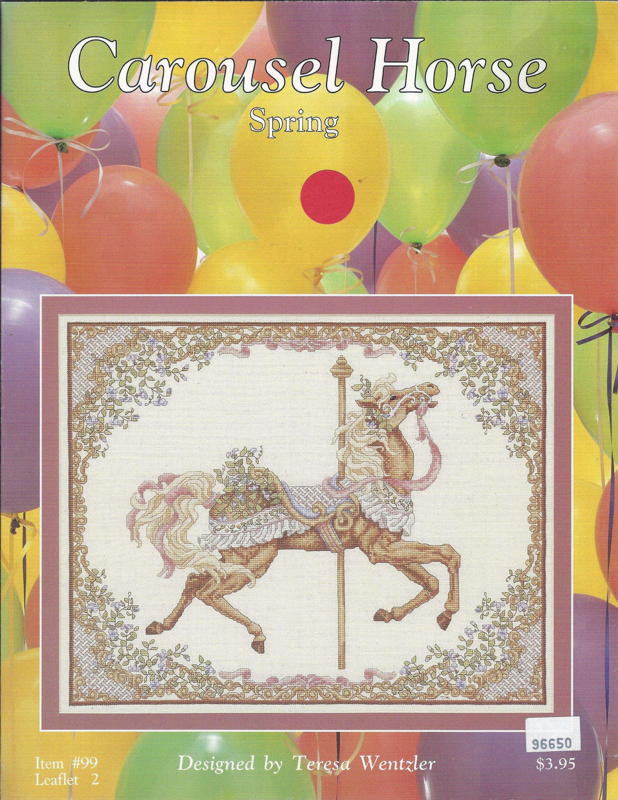 Carousel Horse - Spring (Counted Cross Stitch)